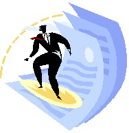 2013-04-19 Man surfing documents