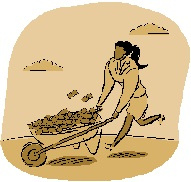 2014-10-24 Woman with wheel barrow money