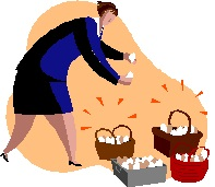 2014-09-15 Lady with egg baskets