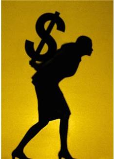 2013-06-14 Woman carrying dollar sign