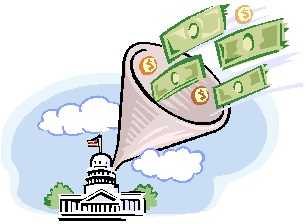 2013-04-22 Capitol with money flowing in