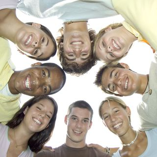 2013-08-23 Circle of teenagers