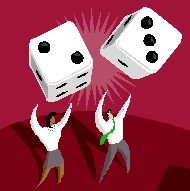 2013-06-21 business people rolling the dice