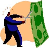 2014-09-15 Man cutting dollar bill