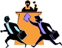 2014-10-03 People running before Judge