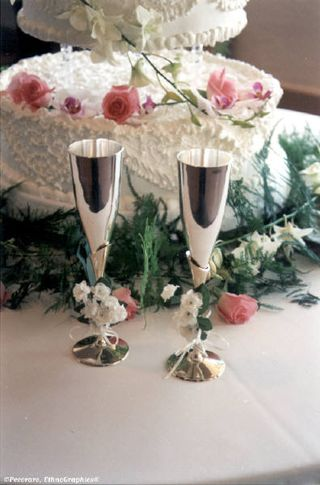 2013-03-18 Wedding cake and goblets